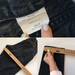 Vintage Jeans - Vintage Bonjour faded black high waist mom jeans